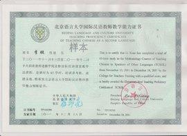 四川对外汉语教师资格证书考试