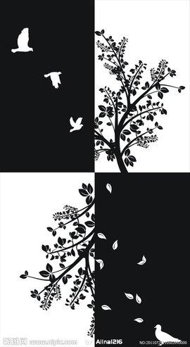 黑白装饰画重点是作为装饰的作品,因此构思,起稿,包括所画物体形象