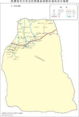 鄯善县地图各乡镇地图