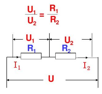 串联电路分电压之比等于 ,用公式表示为 .