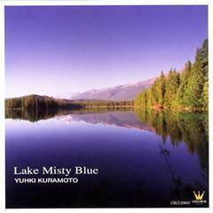 lake misty blue