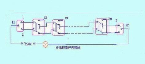 >>四层楼道灯布线电路图   lv 一楼,四楼灯是双控,二楼,三楼是三控