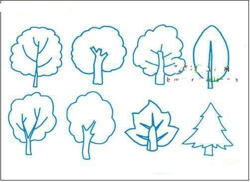 小树怎么画简笔画(5年级水平)