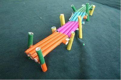 儿童手工桥怎么做