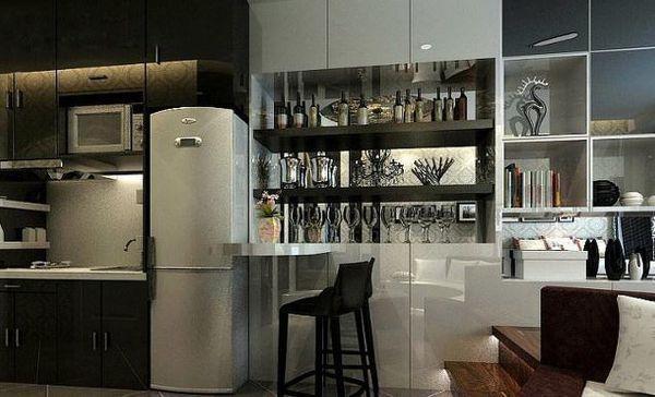 酒柜和冰箱装在一起装修效果图大全