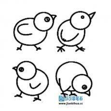 小鸡和大鸡怎样简笔画又漂亮