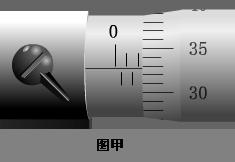 图甲的螺旋测微器的读数是_mm;图乙的游标卡