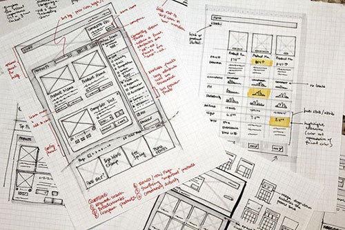 30张设计师的手绘网页草图