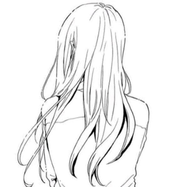 求大神画两张动漫女孩头像 要肩膀以上的背影头像 线条一定要简单清晰
