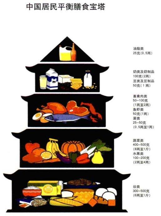 平衡膳食宝塔