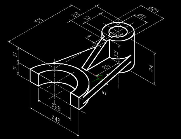CAD里3D建模画圆柱墙面之间窗户为5的cad两个的距离厚度和图片