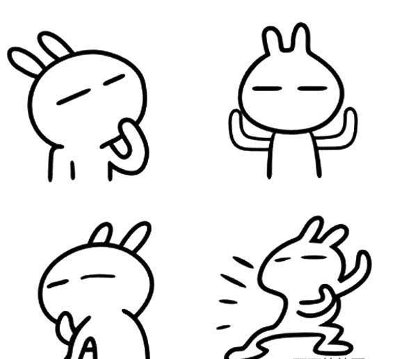 兔斯基简笔画 - 中国广告知道网